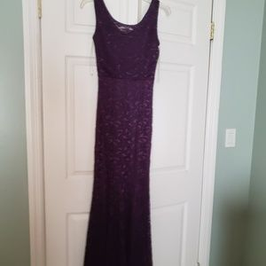 plum purple lace maxi dress.